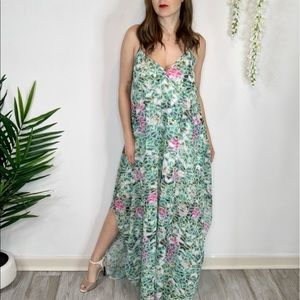 LOVERS + FRIENDS cocoon maxi dress v-neck 1041